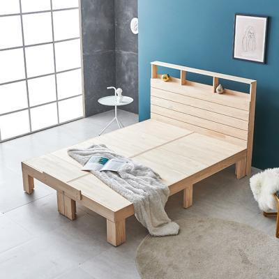 미송 원목 평상형 침대 Q (헤드) H224