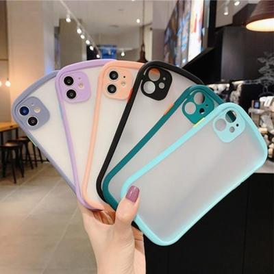 아이폰11 PRO MAX 반투명 파스텔 컬러라인 범퍼케이스