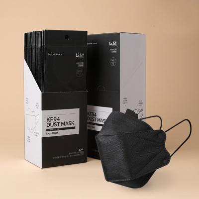 리릿 KF94 블랙 마스크 대형 황사방역용 개별포장