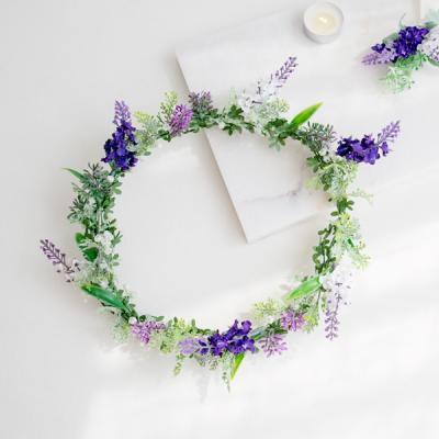 라벤더 허브 들꽃화관
