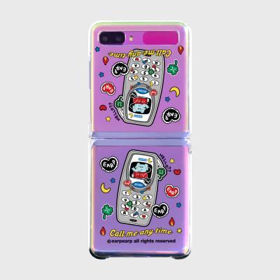 kkikki retro cell phone(Z플립-투명하드)