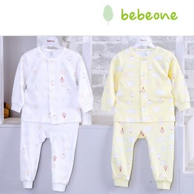 [베베원] 밤부 양면긴팔내의 상하복 무형광  유아 아기 출산