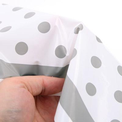 라인도트 비닐 테이블보 - 실버(1매)