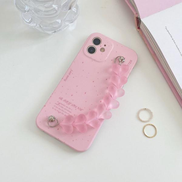 핑크 하트 스트랩케이스(아이폰11)