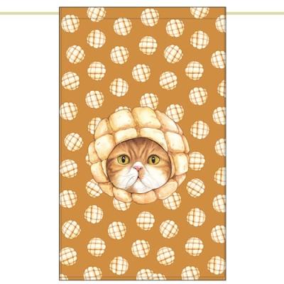 노렌(입구커튼) - 멜론빵고양이 (51X81cm)