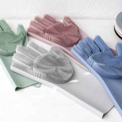 [2HOT] 뉴 파스텔 실리콘 수세미 장갑 (오른손만)