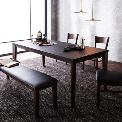 [채우리] 루트리 화산석 6인식탁세트(의자/벤치)