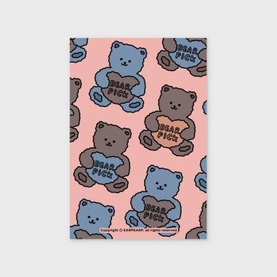 Bear pick-pink(엽서)