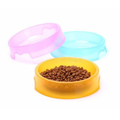 투명 반려동물 식기 1개(색상랜덤)