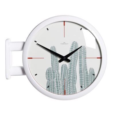 (ktk141)심플 화이트양면시계 (선인장)