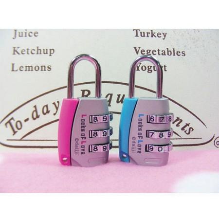 투톤다이얼(소) 자물쇠(핑크)