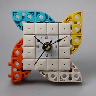 바람개비2 블럭시계 (170161) 블럭레고형시계