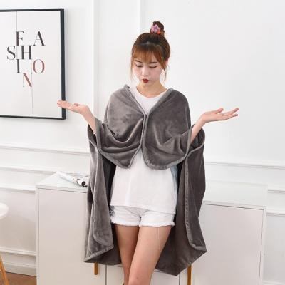포근한 똑딱이 망토 담요(100x140cm)/ 겨울 단추담요