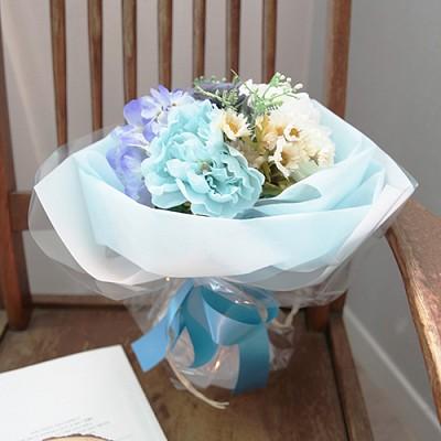 스카이블루 꽃다발