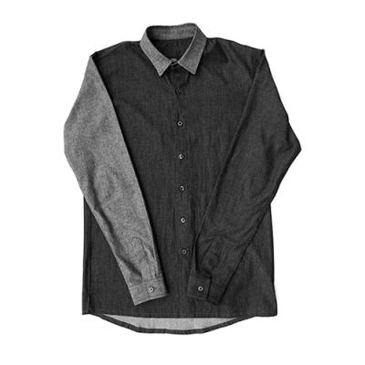 [게타] Getta Accent color denim shirt (black)