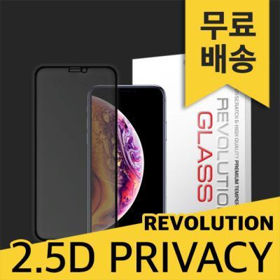 2매 레볼루션글라스2.5D 프라이버시 강화유리아이폰XS