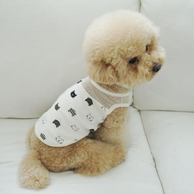 유아러피치 고양이패턴 홈웨어 _강아지옷 애견의류