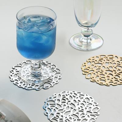 리시안 플라워 고급 티코스터 컵받침 4P세트