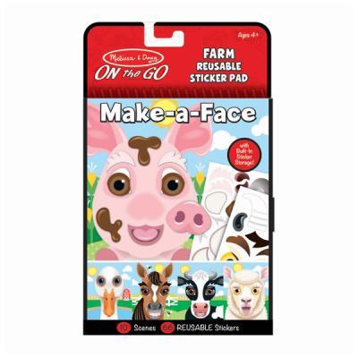 농장 동물 얼굴 스티커세트