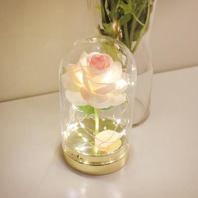 핑크 트윙클 로즈 돔 LED 무드등