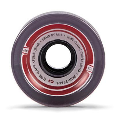 [GLOBE] STEAM ROLLER CLEAR BLACK/RED 83A / 69MM