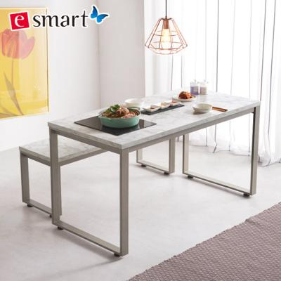 [e스마트] 스마트쿡 식탁테이블 1200x600 불판포함