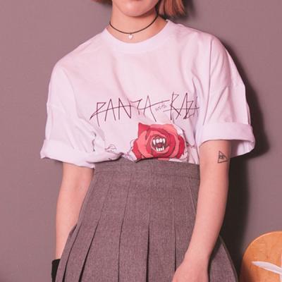[라지크] RAZK X PANTA ROSE MEAN T-SHIRT (WHITE)
