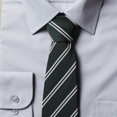 남자 스트라이프 그린 넥타이