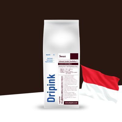 드립핑크 갓볶은 인도네시아 만델링 G1 원두커피 500g