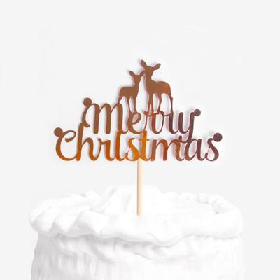 크리스마스 사슴 케이크토퍼
