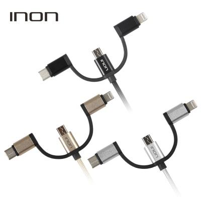 아이논 3in1 데이터 고속충전 멀티케이블 0.5m IN-3CA051