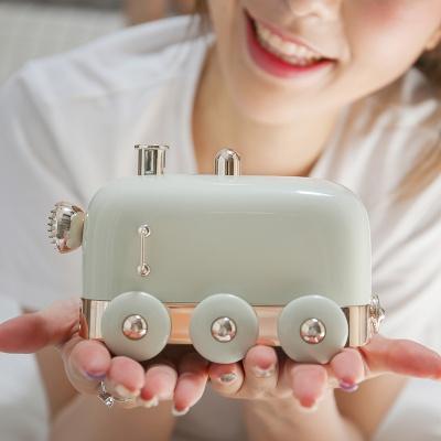 [햅시]19년 신제품 미니 초음파 LED 기차 가습기