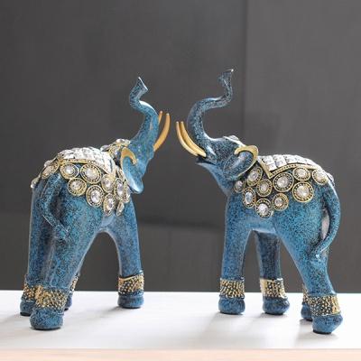 (kcrz070)엔틱 블루 코끼리 장식 2P set
