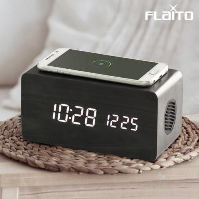 플라이토 우드 3in1 무선충전 블루투스 스피커 LED