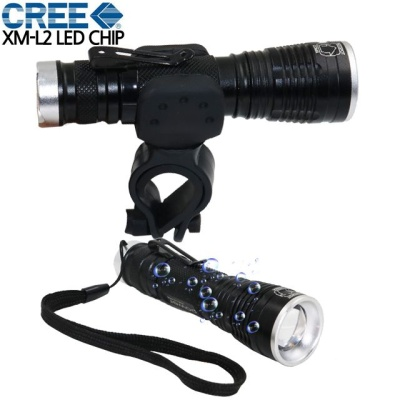 LED 충전식 자전거라이트 자전거 전조등 후레쉬 손전