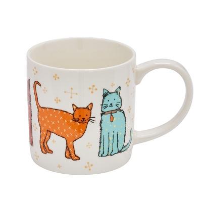 캣워크 고양이 머그 컵 카페