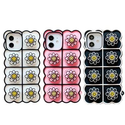 아이폰 12 11 pro max 스마일 플라워 젤리 팝잇케이스