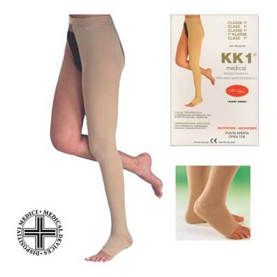 [이허브]알베르트앙드레 한쪽다리 허벅지 오튼토형  의료용압박스타킹 400D 강압 20-30mmhg (왼쪽) (212)