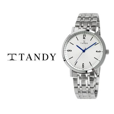 탠디 클래식 커플 메탈 손목시계 T-3705 남자 화이트
