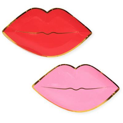 립스틱 바른 입술 파티 플레이트 (8개)