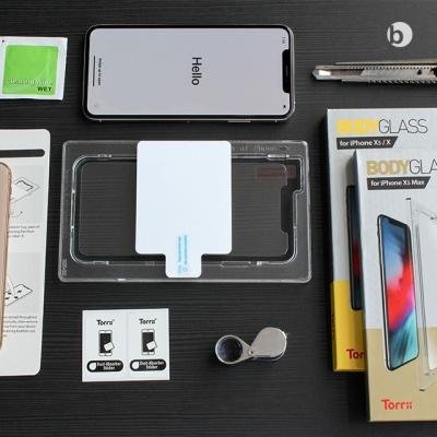 위시비 토리 아이폰 풀커버 3D 강화유리 장착툴 포함