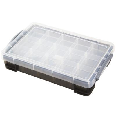 [Really Useful] 클리어박스4리터 (Litre) 2단칸막이 투명블랙 [개/1] 302744