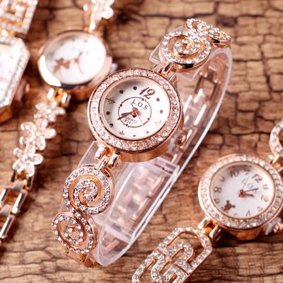 큐빅 러블리 팔찌 겸용 손목시계