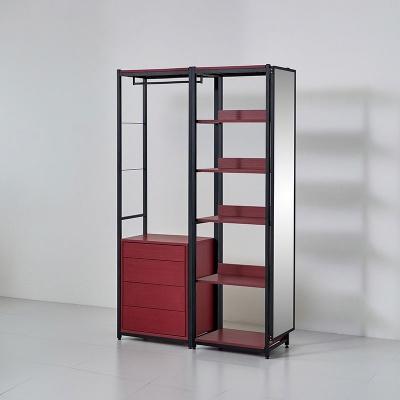 카소 철제 드레스룸 1200 서랍 선반 거울장 세트
