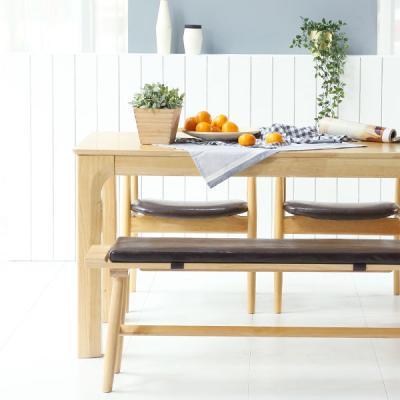 [채우리] 이랑 4인 원목 식탁세트(의자/벤치)