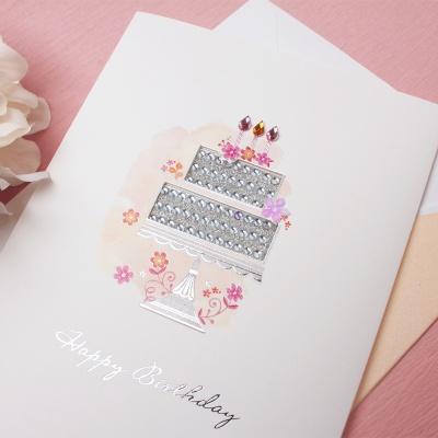 030-SG-0037 / 스톤생일케익 축하카드