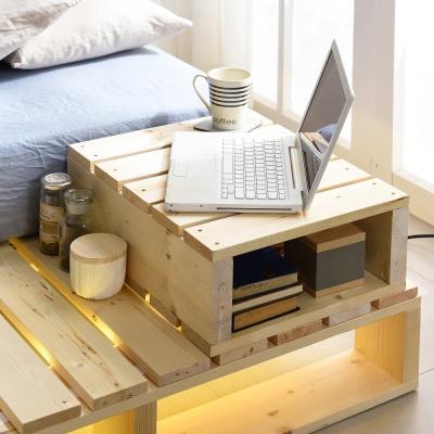 원목 침대협탁 다용도 테이블 USB