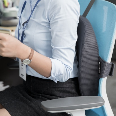 큐어백 인체공학 등받이쿠션 사무실 의자 허리방석