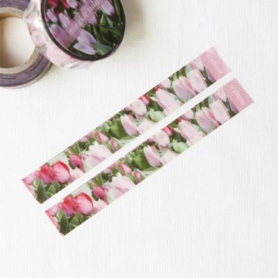 밍키트 핑크 튤립 마스킹테이프