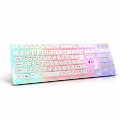 LCG-LIGHT 멤브레인 레인보우 LED USB 키보드